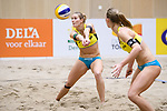 05.01.2019, Den Haag, Sportcampus Zuiderpark<br />Beachvolleyball, FIVB World Tour, 2019 DELA Beach Open<br /><br />Annahme Kim Behrens (#1 GER), Sandra Ittlinger (#2 GER)<br /><br />  Foto &copy; nordphoto / Kurth