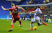 31st October 2017, Madejski Stadium, Reading, England; EFL Championship football, Reading versus Nottingham Forest; Joe Worrall of Nottingham Forest blocks the shot from Yann Kermorgant of Reading