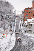 Snow in Nagoya city.