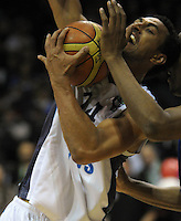 Hawks forward Mika Vukona calls for a foul. NBL Semifinal - Wellington Saints v Nelson Giants at TSB Bank Arena, Wellington, New Zealand on Friday, 15 July 2011. Photo: Dave Lintott / lintottphoto.co.nz