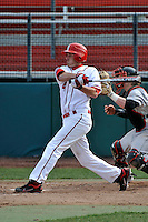 St.John's Red Storm outfielder Pat Talbut (4)  during a game vs. the Cincinnati Bearcats at Jack Kaiser Stadium in Queens, NY;  March 25, 2011.  St. John's defeated Cincinnati 3-2.  Photo By Tomasso DeRosa/Four Seam Images