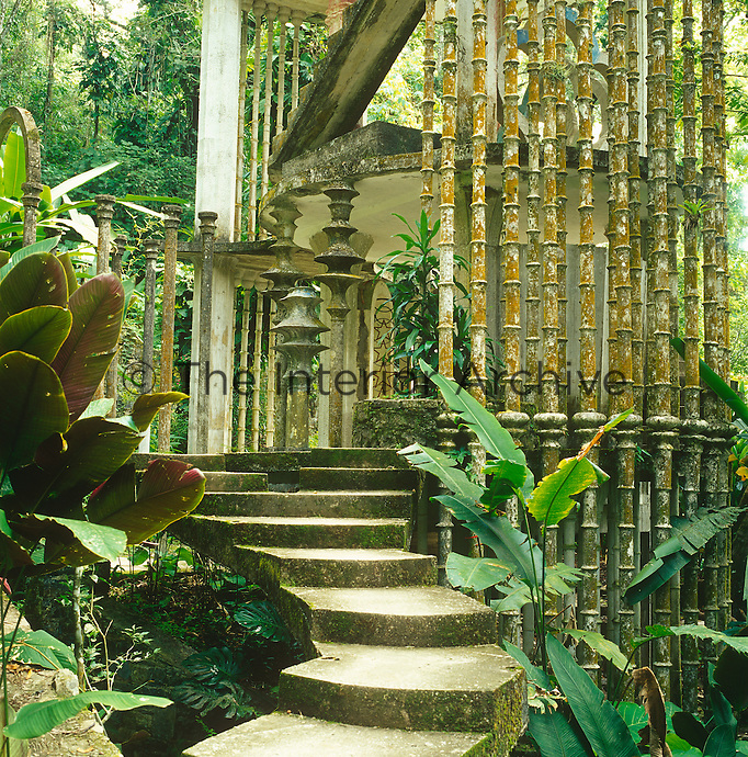 Las Pozas has the feeling of a long lost city, its semi-ruined skeletal structures partly swallowed up by the encroaching jungle