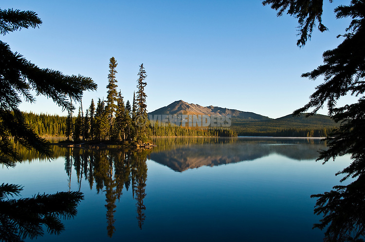 Summit Lake and Diamond Peak; Cascade Mountains, Oregon.
