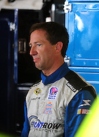 Aug. 8, 2009; Watkins Glen, NY, USA; NASCAR Sprint Cup Series driver John Andretti during practice for the Heluva Good at the Glen. Mandatory Credit: Mark J. Rebilas-