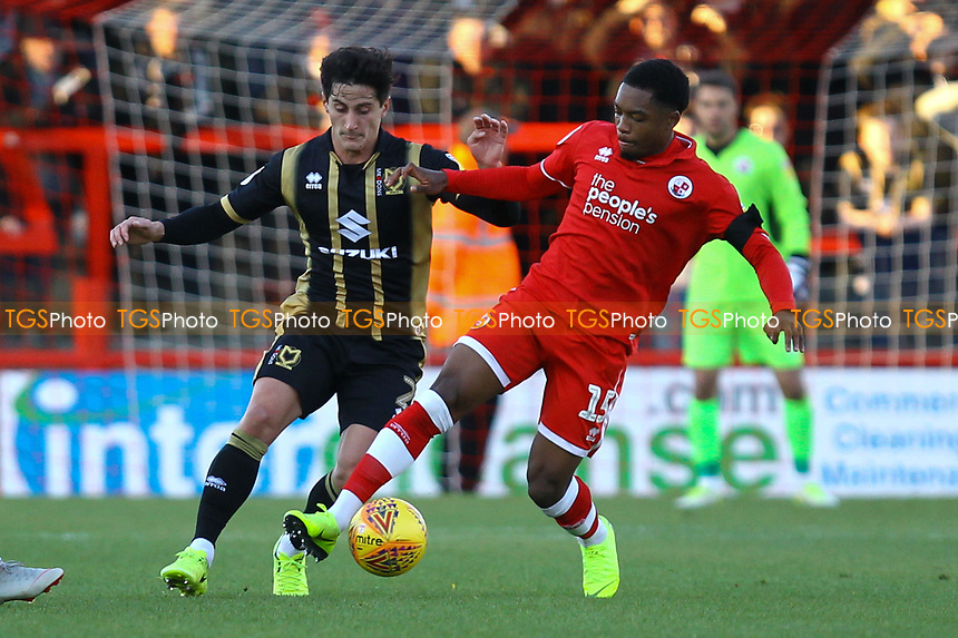 Ashley Nathaniel-George of Crawley Town and George Williams of MK Dons during Crawley Town vs MK Dons, Sky Bet EFL League 2 Football at Broadfield Stadium on 3rd November 2018