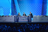 March 3, 2013  (Washington, DC)  Former Italian Foreign Minister Franco Frattini (left) and Canadian Foreign Minister John Baird (right) during a panel discussion at the 2013 AIPAC Policy Conference in Washington, D.C.  (Photo by Don Baxter/Media Images International)