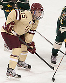 Cam Spiro (BC - 15) - The Boston College Eagles defeated the visiting University of Vermont Catamounts to sweep their quarterfinal matchup on Saturday, March 16, 2013, at Kelley Rink in Conte Forum in Chestnut Hill, Massachusetts.