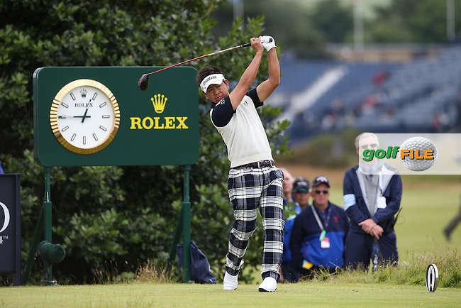Hiroyuki Fujita (JPN) during Round Two of the 144th Open, played at the Old Course, St Andrews, Scotland. /17/07/2015/. Picture: Golffile | David Lloyd<br /> <br /> All photos usage must carry mandatory copyright credit (&copy; Golffile | David Lloyd)