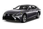 2018 Lexus LS F Sport 4 Door Sedan angular front stock photos of front three quarter view