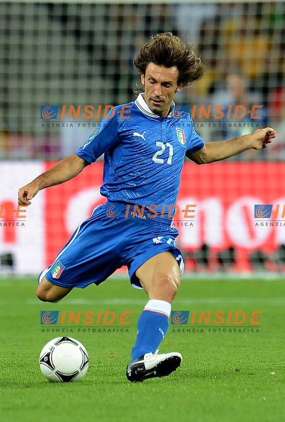 "Andrea PIRLO (Italia).Kiev 24/06/2012  ""Stadio Olimpico"".Football calcio Europeo 2012 Inghilterra Vs Italia.Football Calcio Euro 2012.Foto Insidefoto Alessandro Sabattini..."