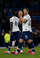 7th March 2020; Turf Moor, Burnley, Lanchashire, England; English Premier League Football, Burnley versus Tottenham Hotspur; Eric Dier of Tottenham Hotspur applauds the travelling fans at the final whistle