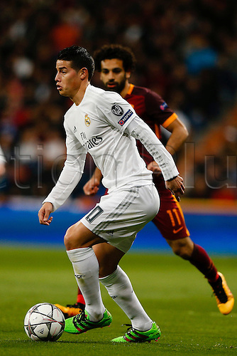 08.03.2016 Estadio Santiago Bernabeu, Madrid, Spain. UEFA Champions League Real Madrid CF versus AS Roma.  James Rodriguez (10) Real Madrid.