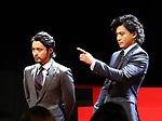 "December 5 2017, Tokyo, Japan - Japanese actors Takayuki Yamada (L) and Shun Oguri attend a promotinal event of Japanese electronics giant Fujitsu's smartphone ""arrows NX F-01K"" in Tokyo, on Tuesday, December 5, 2017.      (Photo by Yoshio Tsunoda/AFLO) LWX -ytd-"