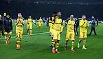 16.03.2019, OLympiastadion, Berlin, GER, DFL, 1.FBL, Hertha BSC VS. Borussia Dortmund, <br /> DFL  regulations prohibit any use of photographs as image sequences and/or quasi-video<br /> <br /> im Bild Marco Reus (Borussia Dortmund #11), Abdou Diallo (Borussia Dortmund #4), Achfraf Hakimi  (Borussia Dortmund #5), Marcel Schmelzer (Borussia Dortmund #29)<br /> <br />       <br /> Foto © nordphoto / Engler