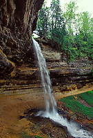 MUNISING FALLS IN PICTURED ROCKS NATIONAL LAKESHORE IN MUNISING, MICHIGAN.