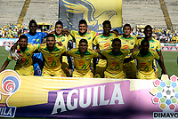 NEIVA-COLOMBIA, 24-10-2019: Jugadores de Atlético Huila posan para una foto antes de partido entre Atlético Huila y Deportivo Independiente Medellín de la fecha 19 por la Liga Águila II 2019 en el estadio Guillermo Plazas Alcid en la ciudad de Neiva. / Players of Atletico Huila pose for a photo prior a match between Atletico Huila and Deportivo Independiente Medellín of the 19th date for the Aguila Leguaje II 2019 at the Guillermo Plazas Alcid Stadium in Neiva city. Photo: VizzorImage  / Sergio Reyes / Cont.