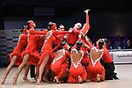 """07.12.2019,  GER; Tanzen, WDSF Weltmeisterschaft der Lateinformationen, Finale, im Bild Duet Perm (RUS) mit dem Thema """"One Heartbeat"""" Foto © nordphoto / Witke"""