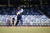 4th October 2017, WACA Ground, Perth, Australia; 2017 JLT One Day Cup, Tasmania versus Victoria; Victorian Bushrangers Marcus Harris at bat