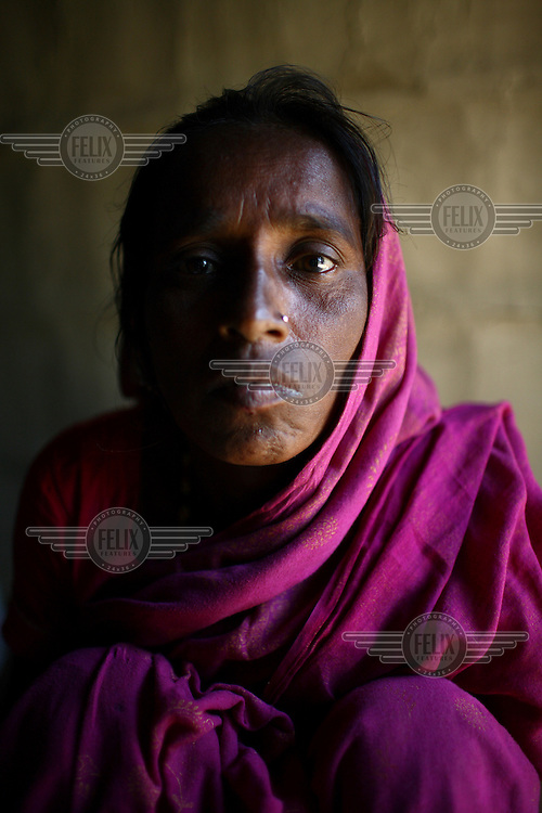 Fisherman's wife at home in Sunamganj. They received a microfinance loan from IFAD (International Fund for Agricultural Development)...