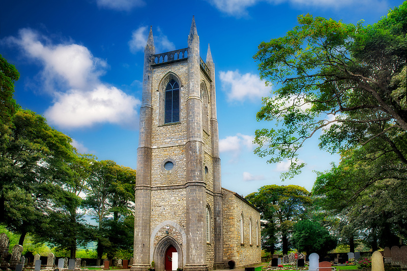 St. Columba's Church, Church of Ireland. Where William Butler Yeats is burried. Ireland