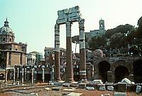 Italy: Rome--Caesar's Forum--Columns of Temple of Venus Genitrix. Photo '83.