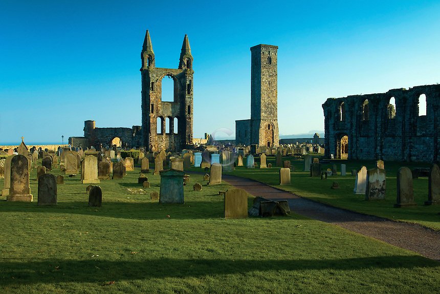 St Andrew's Cathedral and St Rule's Tower, St Andrews, Fife