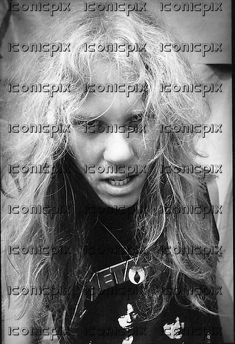 METALLCIA - James Hetfield - backstage at the Breaking Sound Festival at Le Bourget Airport near Paris France - 29 Aug 1984.  Photo credit: Philippe Hamon/Dalle/IconicPix