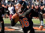 WATERTOWN, CT-112317JS17- Adam Alenckis (36) runs for a 41-yard touchdown during their Thanksgiving Day game against Torrington Thursday at Watertown High School. <br /> Jim Shannon Republican-American