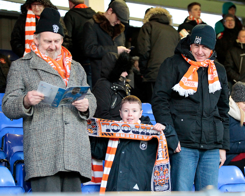 Blackpool fans enjoy the match atmosphere<br /> <br /> Photographer David Shipman/CameraSport<br /> <br /> The EFL Sky Bet League Two - Hartlepool United v Blackpool - Monday 26th December 2016 - Northern Gas and Power Stadium - Hartlepool<br /> <br /> World Copyright &copy; 2016 CameraSport. All rights reserved. 43 Linden Ave. Countesthorpe. Leicester. England. LE8 5PG - Tel: +44 (0) 116 277 4147 - admin@camerasport.com - www.camerasport.com