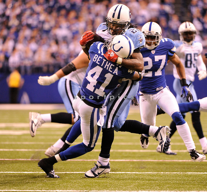 ANTOINE BETHEA, of the Indianapolis Colts in action durIng the Colts game against the Tennessee Titans at Lucas Oil Stadium in Indianapolis, Indiana on January 2, 2011...Colts beat the Titans 23-20