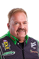 Feb 8, 2017; Pomona, CA, USA; NHRA top fuel driver Terry McMillen poses for a portrait during media day at Auto Club Raceway at Pomona. Mandatory Credit: Mark J. Rebilas-USA TODAY Sports