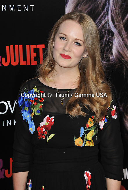 Cara Theobold  arriving at the Romeo & Juliet Premiere at the Arclight Theatre In Los Angeles.