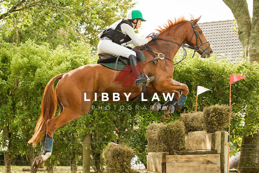 NZL-Abigail Long (BMW ADVOKAAT) INTERIM-1ST: CIC1* CROSS COUNTRY: 2014 NZL-BNZ Kihikihi International Horse Trial (Saturday 12 April) CREDIT: Libby Law COPYRIGHT: LIBBY LAW PHOTOGRAPHY - NZL