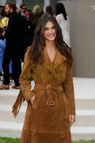 LONDON, ENGLAND - SEPTEMBER 21:  Elisa Sednaoui attending the Burberry Prorsum Spring/Summer 2016 show during London Fashion Week at Kensington Gardens, on September 21, 2015 in London, England.<br /> CAP/MAR<br /> &copy; Martin Harris/Capital Pictures