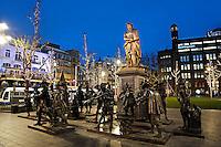 Rembrandtplein in Amsterdam bij avond in december