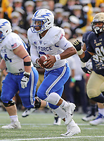 Annapolis, MD - October 7, 2017: Air Force Falcons quarterback Arion Worthman (2) in action during the game between Air Force and Navy at  Navy-Marine Corps Memorial Stadium in Annapolis, MD.   (Photo by Elliott Brown/Media Images International)