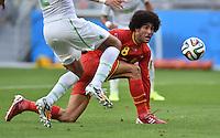 FUSSBALL WM 2014  VORRUNDE    Gruppe H     Belgien - Algerien                       17.06.2014 Marouane Fellaini (Belgien) fixiert den Ball