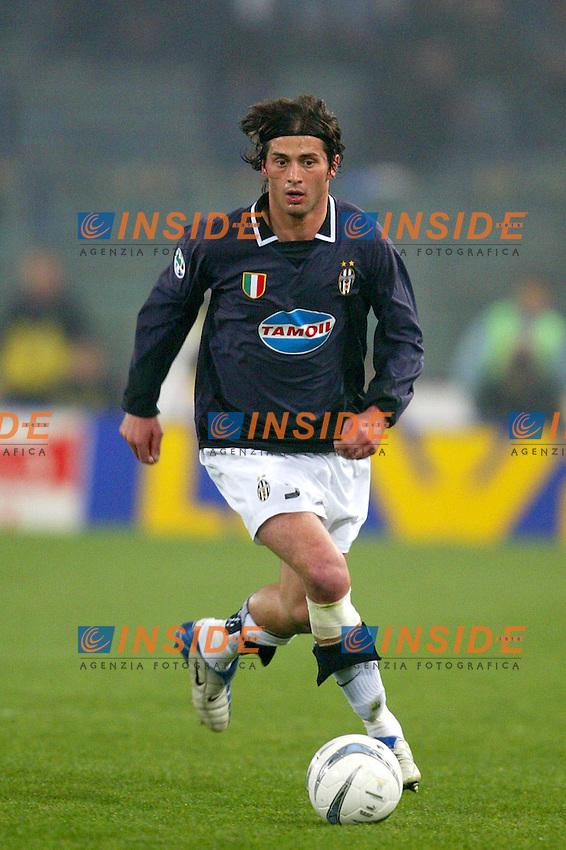 Roma 17/3/2003 Finale Andata Coppa Italia 2003/2004 <br /> Lazio Juventus 2-0 <br /> Alessio Tacchinardi (Juventus)<br /> Foto Andrea Staccioli Insidefoto