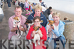 TERRIERS: Sean Laughran and Mary Flaherty (Ballyheigue), Cliona Costello (Kilmoyley) and Mary O'Sullivan (Ballyheigue), who entered their terriers in the Terrier Race on Ballyheigue Beach in conjunction with the Ballyheigue Festival on Friday evening..