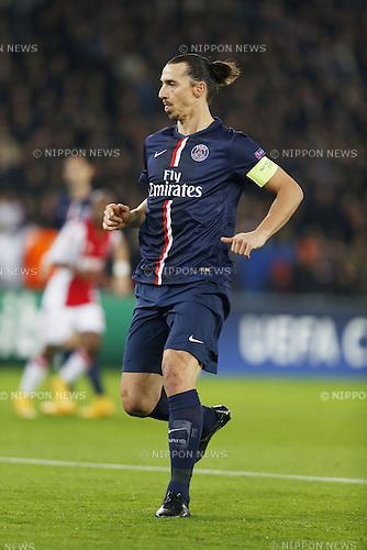 Zlatan Ibrahimovic (PSG), NOVEMBER 25, 2014 - Football / Soccer : UEFA Champions League Group F match between Paris Saint-Germain 3-1 AFC Ajax at the Parc des Princes Stadium in Paris, France. (Photo by Mutsu Kawamori/AFLO) [3604]