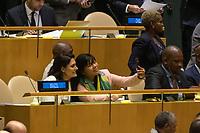 Nova York (EUA), 24/09/2019 - Assembléia Geral / ONU - A primeira dama Michelle Bolsonaro durante abertura da 74ª Assembleia Geral da Organização das Nações Unidas (ONU)  em Nova York nos Estados Unidos nesta terça-feira, 24. (Foto: William Volcov/Brazil Photo Press/Agencia O Globo) Mundo