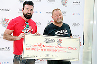 PHILADELPHIA, PA - AUGUST 12 :  Chris Salgardo, president, Kiehl's USA and Kevin Robert Frost, CEO, amFAR pictured at the Kiehl's 7th Annual LifeRide For amfAR at Kiehl's in Philadelphia, Pa on August 12, 2016 photo credit Star Shooter/MediaPunch