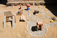 Mini village built by Lucas and Felix in Cuatepetitla, San Jose de los Laureles, Mexico