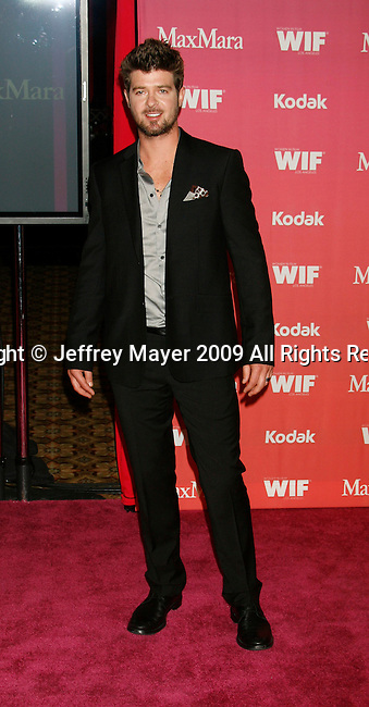 CENTURY CITY, CA. - June 12: Robin Thicke  arrives at Women In Film's 2009 Crystal + Lucy Awards held at the Hyatt Regency Century Plaza on June 12, 2009 in Century City, California.