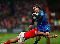 28th December 2019; Thomond Park, Limerick, Munster, Ireland; Guinness Pro 14 Rugby, Munster versus Leinster; James Lowe of Leinster is tackled - Editorial Use