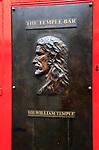 Sir William Temple plaque outside the Temple Bar pub, Dublin city centre, Ireland, Republic of Ireland