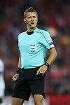 Daniele Orsato referee during the Champions League playoff round at the Anfield Stadium, Liverpool. Picture date 23rd August 2017. Picture credit should read: Lynne Cameron/Sportimage