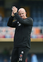 Blackpool manager Simon Grayson applauds the Blackpool fans at the end of the game<br /> <br /> Photographer Rob Newell/CameraSport<br /> <br /> The EFL Sky Bet Championship - Southend United v Blackpool - Saturday 10th August 2019 - Roots Hall - Southend<br /> <br /> World Copyright © 2019 CameraSport. All rights reserved. 43 Linden Ave. Countesthorpe. Leicester. England. LE8 5PG - Tel: +44 (0) 116 277 4147 - admin@camerasport.com - www.camerasport.com