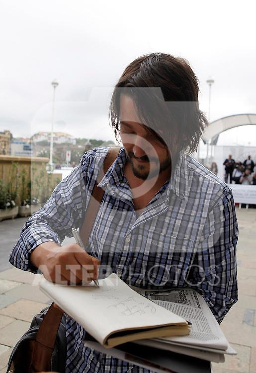 Actor Diego Luna arrives to Maria Cristina Hotel to attend the 61 San Sebastian Film Festival, in San Sebastian, Spain. September 20, 2013. (ALTERPHOTOS/Victor Blanco)