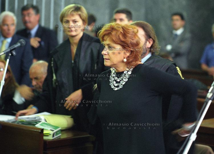 19 SET 2002  Milano: processo IMI - SIR - Lodo Mondadori, Ilda Boccassini pubblico ministero.<br />  Ilda Boccassin prosecutor